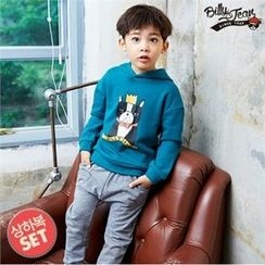 BILLY JEAN - Kids Set: Hooded Printed Pullover + Sweatpants