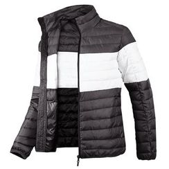 Seoul Homme - Color-Block Padded Jacket - Lightweight