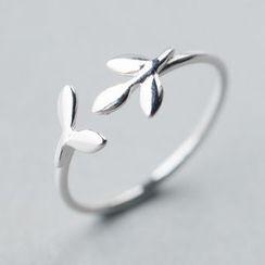 A'ROCH - 925纯银叶子纯银开口指环