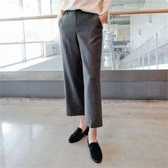 Styleberry - Band-Waist Straight-Cut Pants