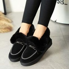 Sunsteps - Furry Trim Moccasins