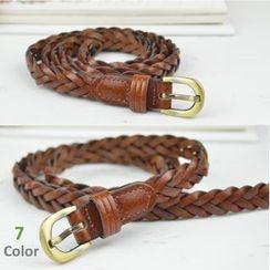Goldenrod - 编织修身腰带