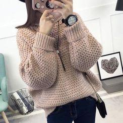 Asally - Turtleneck Chunky Sweater