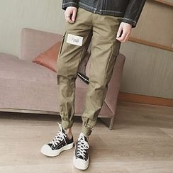 HISDAY - Elastic Cuff Cargo Pants