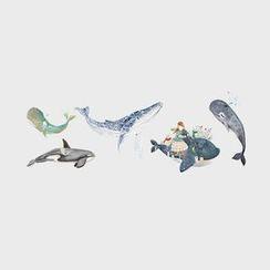 Tattoofield - Whale Temporary Tattoo Stickers