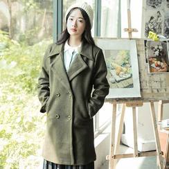 Sens Collection - 平驳领双排扣长款大衣