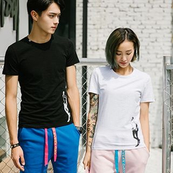 Evolu Fashion - Couple Matching Printed T-Shirt