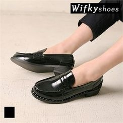 Wifky - Studded Patent Loafers