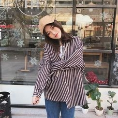MISS YOYO - Oversized Striped Shirt