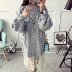 Qimi - Chunky Knit Long Sweater
