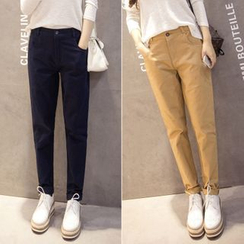 Angel Shine - Plain Straight-Leg Pants