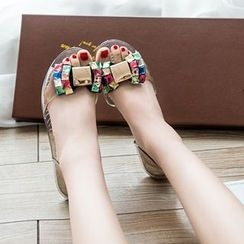 One100 - Jeweled Flat Sandals