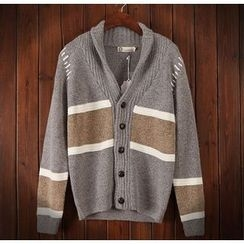 Bigboy - Color Block Shawl Collar Cardigan