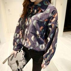 Eva Fashion - Print Long-Sleeve Blouse
