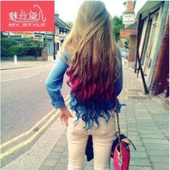 My Style Wigs - Clip-In Hair Extension - Gradient Wavy