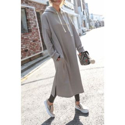 PPGIRL - Hooded Long Pullover Dress