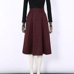 V-MAY - Check A-Line Skirt