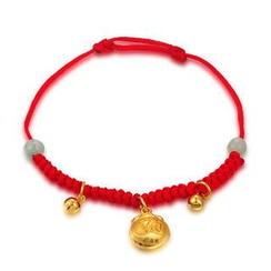 MaBelle - 《Affluence Collection》Baby Gift - 24K Gold Fortune Blessing Red Bracelet / Anklet