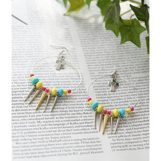 Petit et Belle - Cross-Accent Spike Hoop Earrings