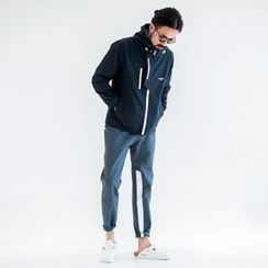 YIDESIMPLE - Color-Block Slim-Fit Pants