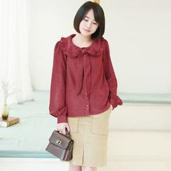 11.STREET - Corduroy Slit Skirt