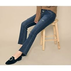 HOTPING - Distressed Boot-Cut Jeans