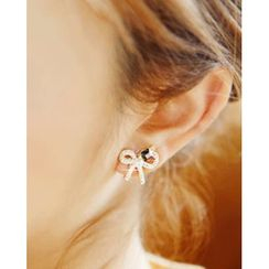 Miss21 Korea - Ribbon Stud Earrings