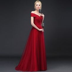 Royal Style - Off-shoulder A-Line Evening Gown