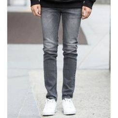 ABOKI - Washed Gray Jeans
