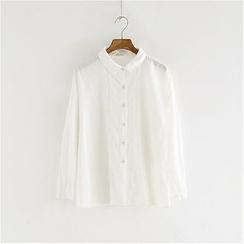 舒然衣社 - 长袖蕾丝边衬衫