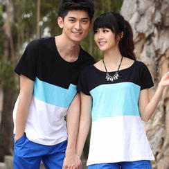 Ringnor Couple Color-Block T-Shirt
