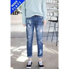 PLAYS - Paint-Splatter Baggy-Fit Jeans