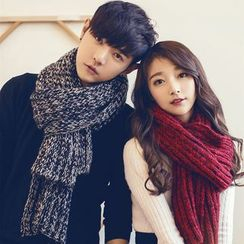 Fireon - Couple Matching Cable Knit Scarf