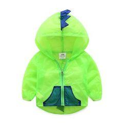 貝殼童裝 - 小童拼接連帽薄款外套