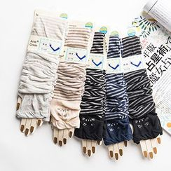 LA SHOP - Stripe Driving Gloves