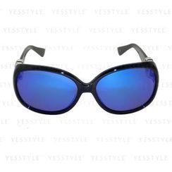 Glam-it! - Lady Sunglasses (Black Frame, Silver Logo, Blue Revo Lens)