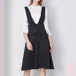 KASHAN - 套裝:上衣 + 背帶裙