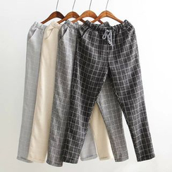 Tangi - Check Drawstring Pants