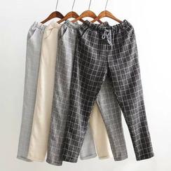 Tangi - Check Drawstring Pants