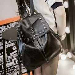 Suis MOI - Studded Faux Leather Backpack