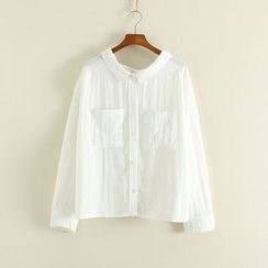 Mushi - Plain Pocketed Shirt