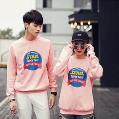 Evolu Fashion - Print Matching Couple Sweatshirt