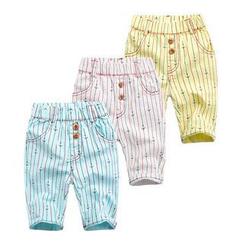 WellKids - 小童条纹短款裤