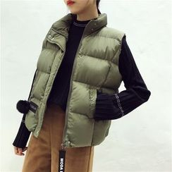 Octavia - Stand Collar Padded Vest