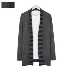 DANGOON - Stripe-Detail Open-Front Cardigan