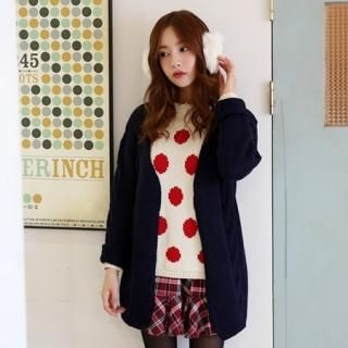 it's girl - Wool-Blend Cable-Knit Long Cardigan