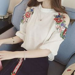 EFO - Set: Cutout Embroidered Top + Skirt