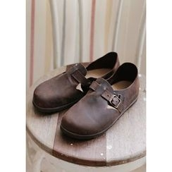 GOROKE - Buckled Genuine-Leather Slip-Ons