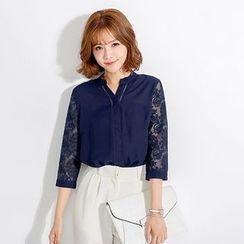 Tokyo Fashion - Lace-Panel Blouse