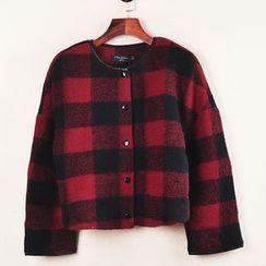 Hanakawa - Woolen Check Jacket